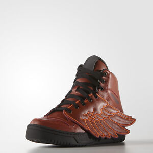 cdebc03fbbe Adidas Originals Jeremy Scott Red Leather Wings B-Ball Shoes S77803 ...