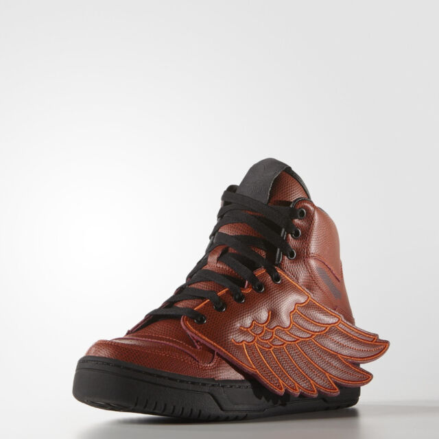 huge discount e1fc1 9424b Adidas Originals Jeremy Scott Red Leather Wings B-Ball Shoes S77803 New