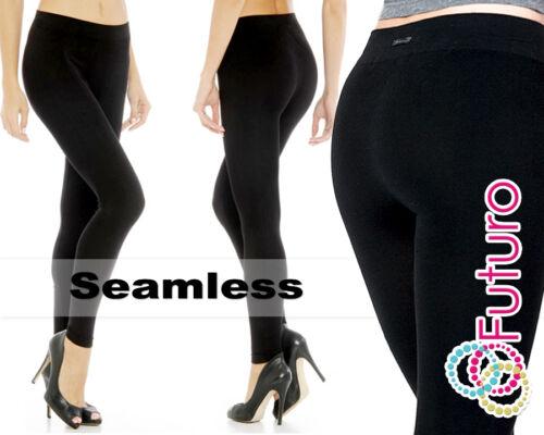 NUOVA linea donna neri Morbido Elastico Seamless piena lunghezza POLIAMMIDE Leggings 9810