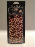 Pacsun Combo Pack Iphone 5 Phone Case & Matching Headphone Ear Buds Leopard