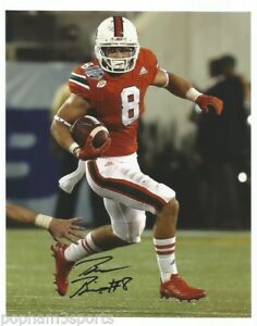 the latest 4a2c4 8f411 Details about BRAXTON BERRIOS Signed/Autographed MIAMI HURRICANES 8x10  Photo w/COA