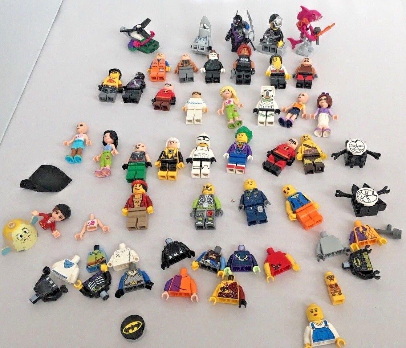 Lot 30 Lego Minifigures Plus Parts & Pieces Fishface Friends Girls Shark Minifig