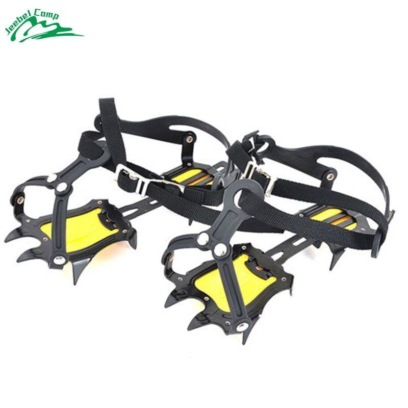 Jeebel Professional Crampons Traction Device Cleats Mountaineering Heavy Duty