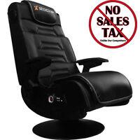 X Video Rocker Pro Series Pedestal 2.1 Wireless Audio Gamer Video Gaming Chair