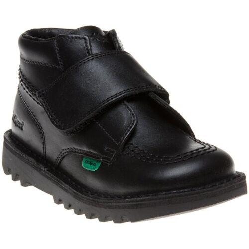 New Infants Kickers Black Kick Kilo Leather Boots