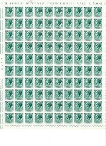 S34945 Italy 1960 MNH Syracuse L70 Full Sheet not Folded Stars / IV