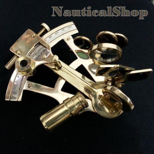 "Shiny Brass Nautical Sextant Maritime Vintage Astrolabe Marine Sextant Decor 4/"""