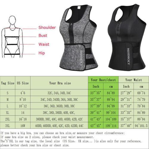 US Women Waist Trainer Vest Gym Slimming Adjustable Sauna Sweat Belt Body Shaper