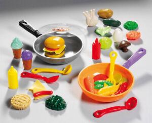 Puppengeschirr-Pfanne-Kinderkueche-Spielkueche-Kaufladen-Zubehoer-Kaufladenzubehoer
