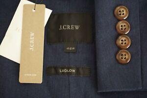 J-Crew-Ludlow-Cotton-Blend-Blue-Unstructured-Sport-Coat-Jacket-Sz-46R-NEW-W-TAG