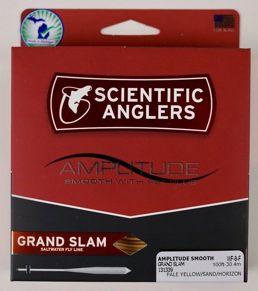 Scientific Anglers Amplitude Smooth Gre Slam Fly Line WF9F gratuito FAST SHIPPING