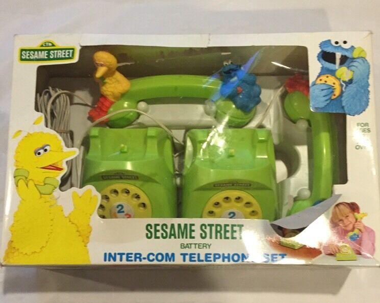 Sesame Street Inter-com Telephone Set Ideal 1985 Rare New