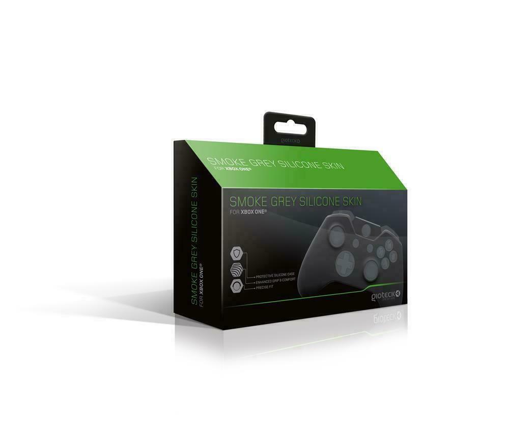 Gioteck Smoke Grey Silicone Skin (Xbox One) Microsoft XB1 Controller Cover NEW