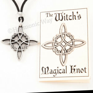 Witchs protection knot pendant wicca wiccan necklace magical knot image is loading witch 039 s protection knot pendant wicca wiccan aloadofball Gallery