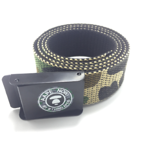 A Bathing Ape BAPE Canvas Belt Logo Camouflage Unisex Belt Length Adjustable