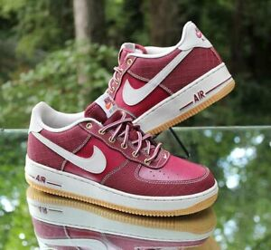 Details about Nike Air Force 1 Low Premium GS Size 7Y Team Red Gum 748981 600