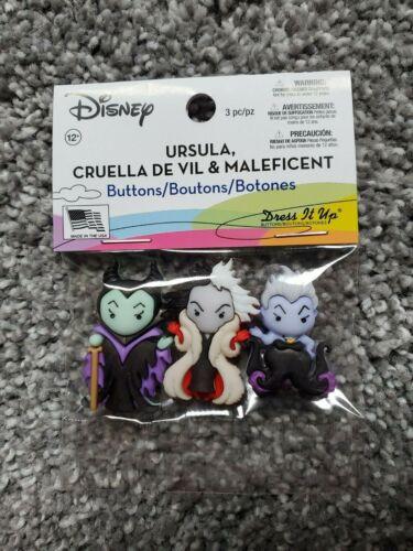 Jesse James Buttons Dress It Up Disney Ursula Cruella Devil /& Maleficent