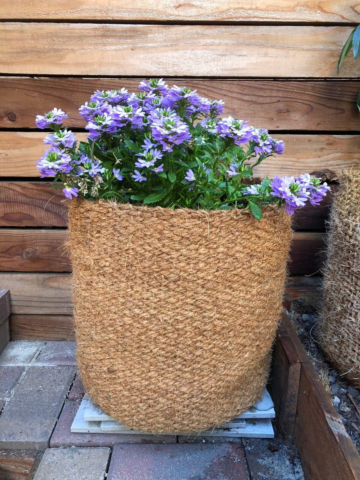 10 Gallon - CoirNet Garden pot made of woven natural coco fiber - Pack of 5 pots