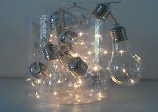 8 Vintage Retro Triple LED Light Bulb Battery Fairy Light Garland String Chain