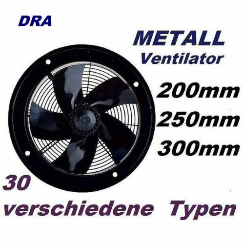 Abluftventilator Wandventilator 200 bis  600 mm Wandlüfter Abluft Wandgerät