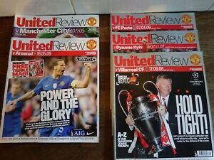 5-x-Mixed-Manchester-United-Football-Programmes-United-Review