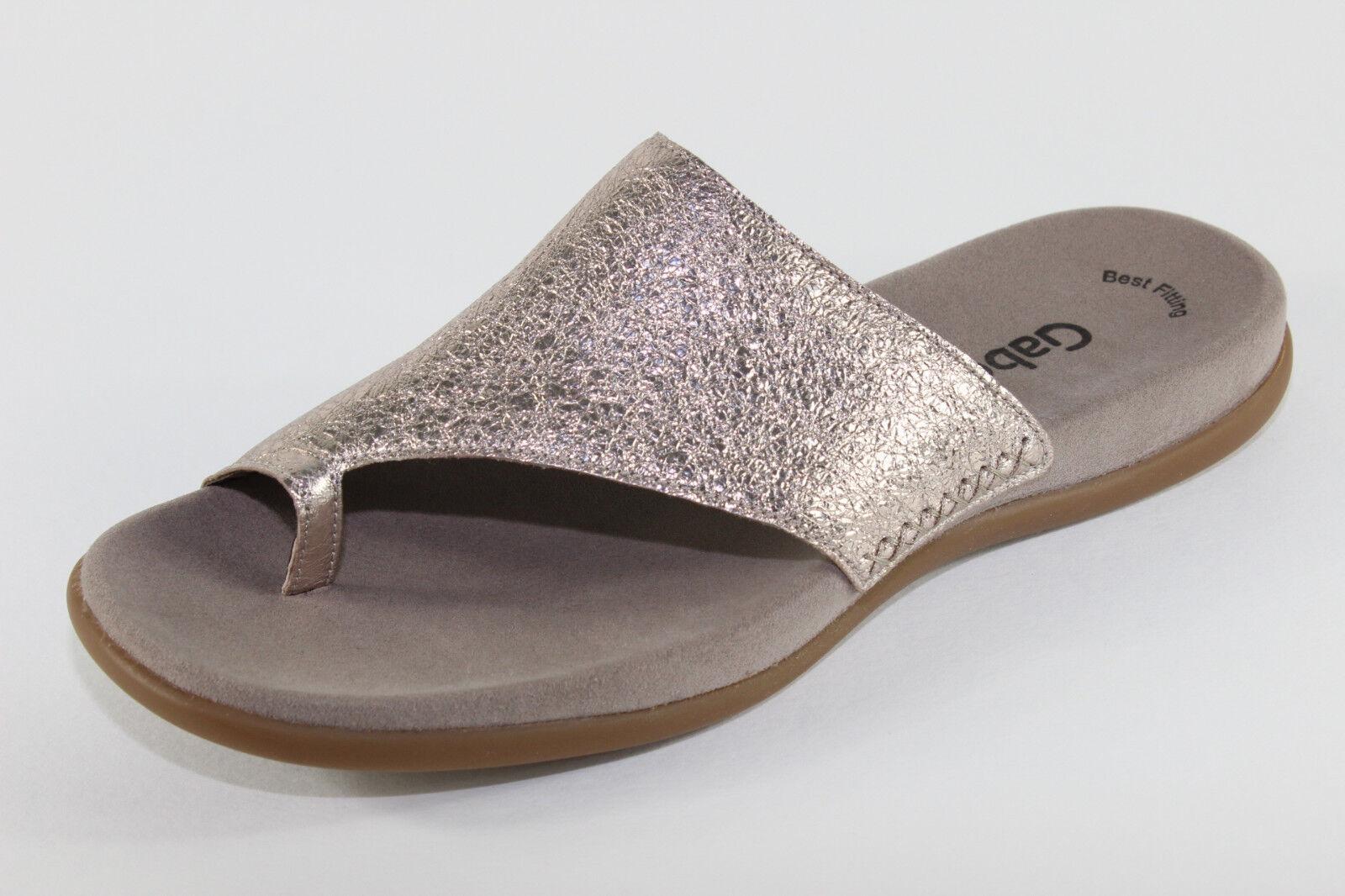Gabor 83.700.62, Pantoletten im Design Crash Metal, Damenschuhe Übergröße