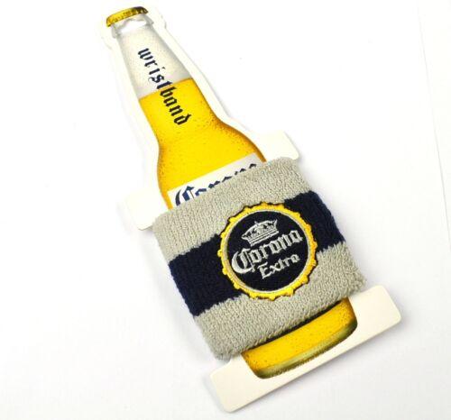 Corona Extra Beer Bier USA Armband Schweißband grau-blau Wristband