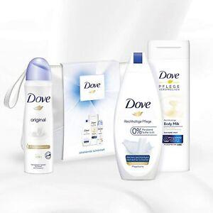 Dove Kulturtasche Deo Duschgel Cremdusche Body Milk Geschenk Deodorant Shampoo
