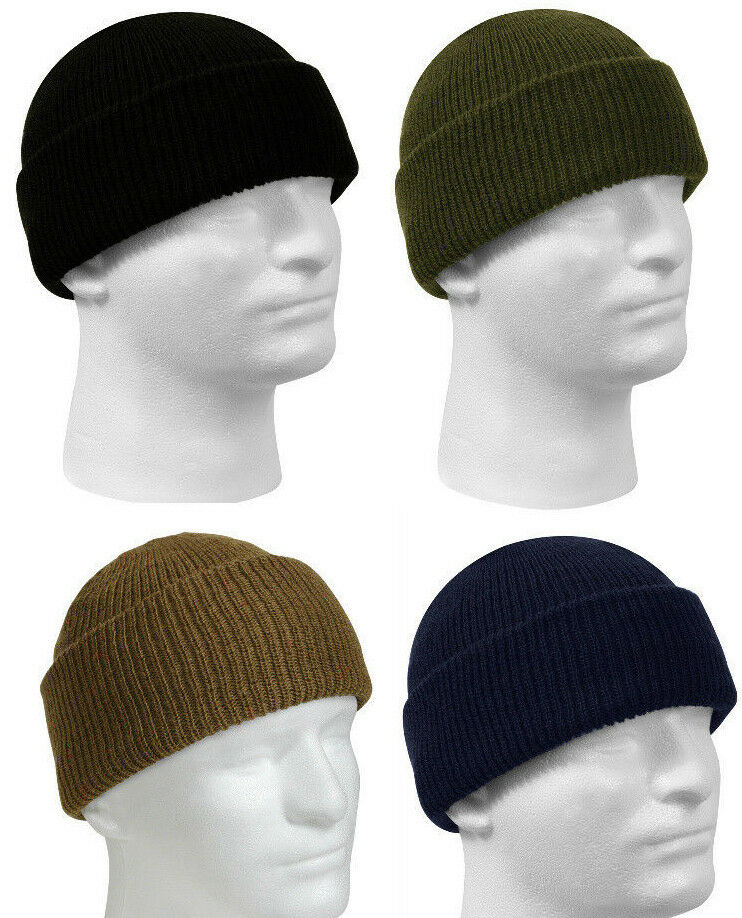 Winter Knit Watch Cap 100% Wool Made Genuine GI Military  Made Wool in USA Rothco f12705