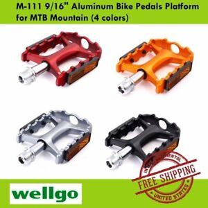 "Wellgo M-111 Aluminum 9//16/"" Mountain MTB Bike Bicycle Cycling Platform Pedals"