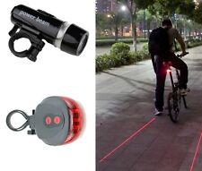 2er Set LED Fahrradbeleuchtung Lampe Fahrradlicht Fahrradleuchte Rücklicht
