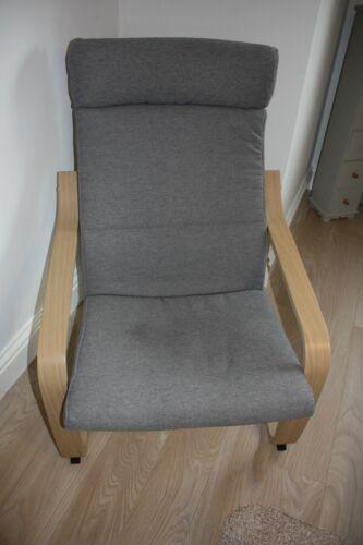 Ikea Poang Armchair. Grey Cushions. Used twice. Genuine reason for sale.