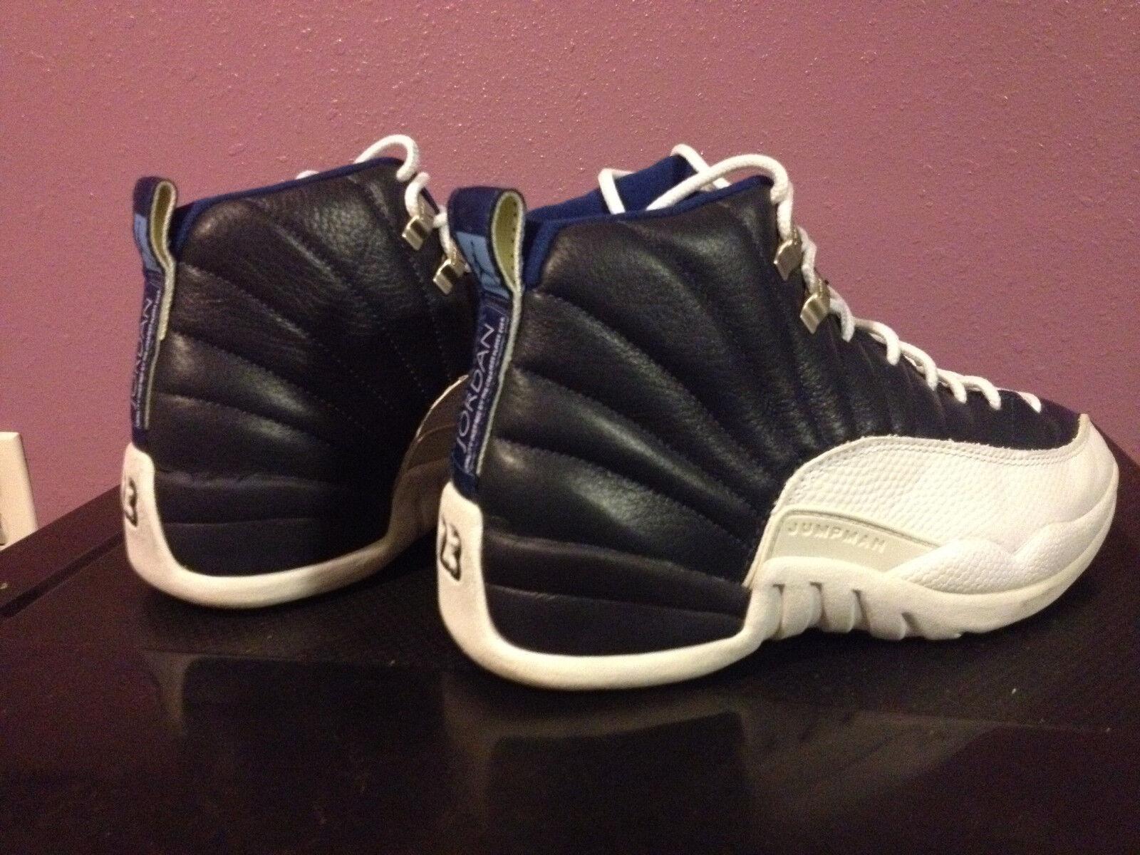 Nike air jordan rari originale xii 12 ossidiana bianco blu 8