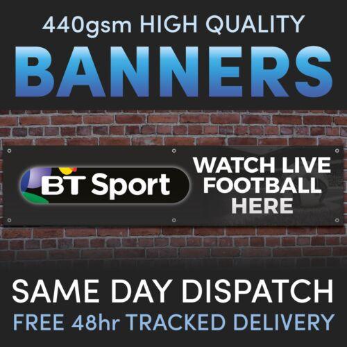 Bars Social Club BT Sport LIVE FOOTBALL Vinyl Banner Advertising Pubs