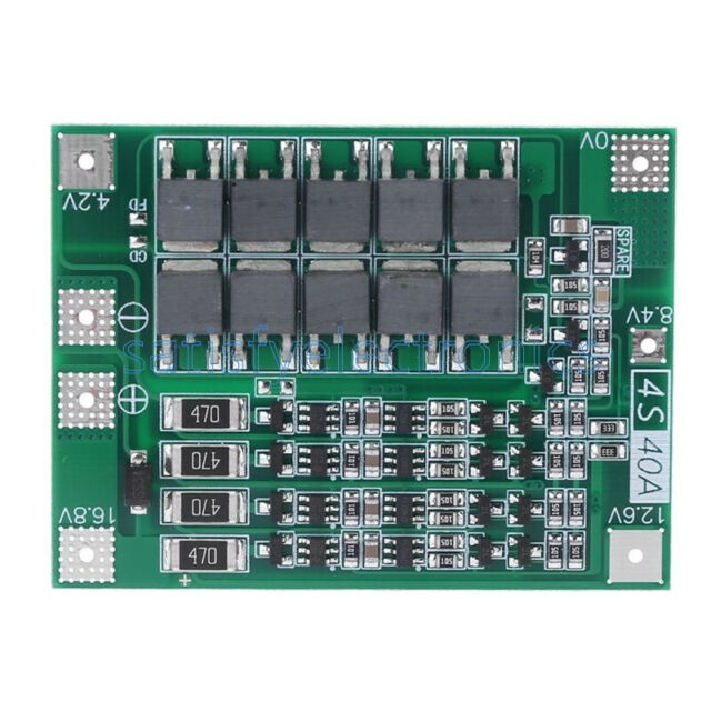 3S 40A Li-ion Lithium Battery Charger BMS Protection Charging Board W// Balanced