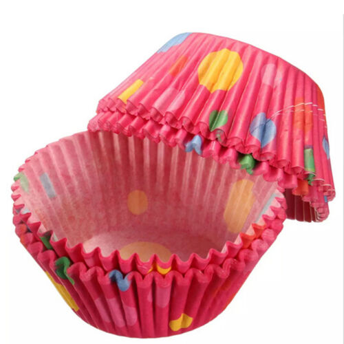 Mini Multi-colour Cupcake Fairy Cake Muffin Paper Cases Baking DIY Molds UK