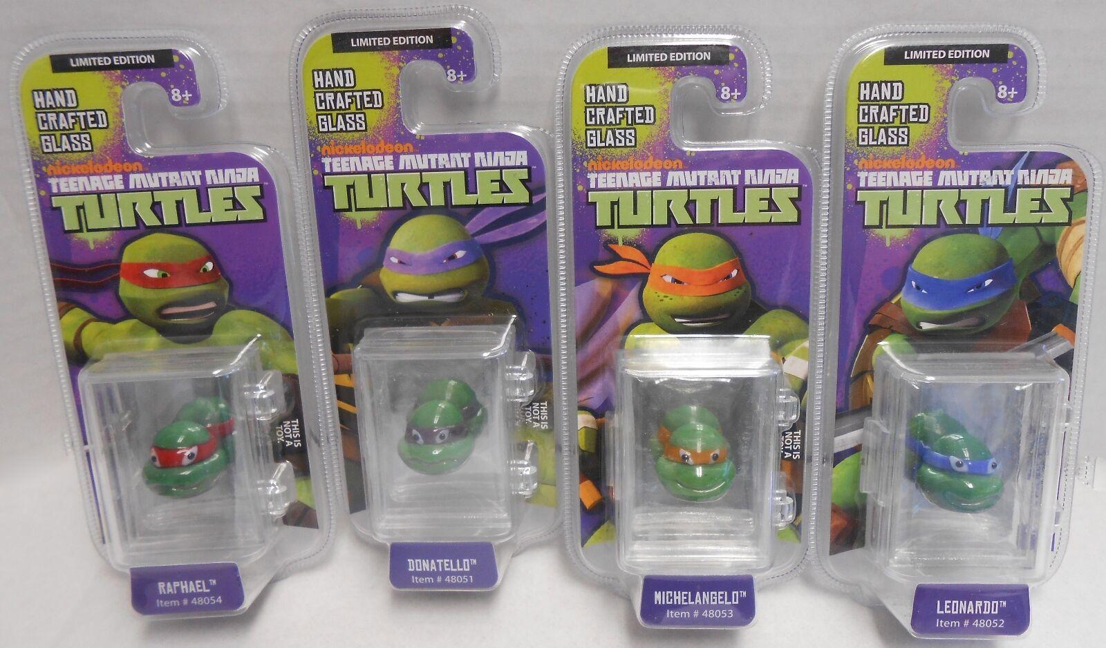 Mutant Ninja Turtles Limited Edition Hand Crafted Glass figurines 4 set, Mint