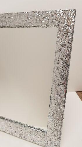 Silver Glitter Freestanding   Dressing Table Mirror