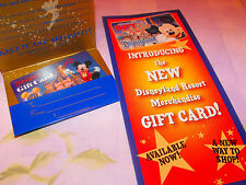 Disneyland 50th Rare GIFT CARD & Brochure & Envelope Disney 50~ 60th No $$ value