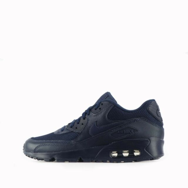 low priced e25d0 7cc3c Nike Air Max 90 Mesh Junior Youth Shoes in Triple Obsidian