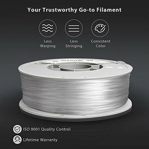 DURAMIC 3D Clear PETG Printer Filament 1.75mm 3D Printing Filament with Build...