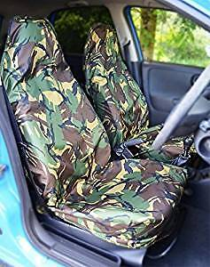 Vauxhall Astra 2010 ON Heavy Duty Waterproof Seat Covers Protectors Green Camo