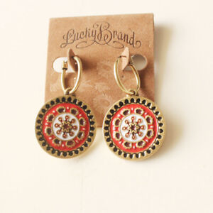 New-Lucky-Brand-Floral-Round-Drop-Dangle-Earrings-Gift-Vintage-Women-Jewelry-FS