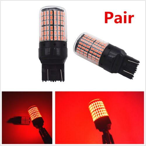 2X T20 7443 3014 Red LED Tail Light Rear Alert Safety Brake Stop Car Light Bulbs