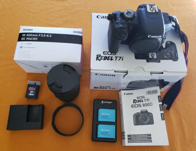 Canon EOS Rebel T7i 24.2MP Digital SLR Camera with 18-300mm/F3.5-6.3 Sigma lens