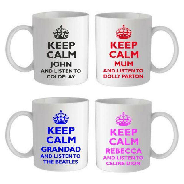 KEEP CALM AND LISTEN TO COLDPLAY Mug 11oz Cup