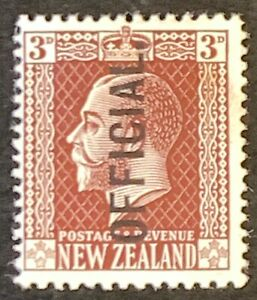 New-Zealand-Optd-OFFICIAL-Definitives-Mounted-Unused-AF91