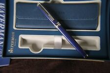 Luxury Waterman Ideal Exception Blue Fountain Pen uninked gold nib retail £350