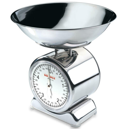 Soehnle Analogique Balance de cuisine Balance Balance backwaage Silvia Chrome Acier Inoxydable