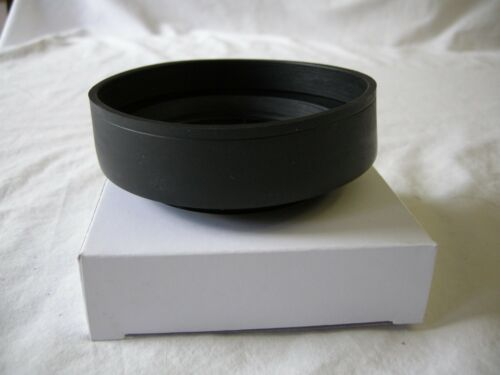 77mm 3 Stage Collapsible Rubber Lens Hood Mamiya Canon Nikon Sony Sigma Pentax